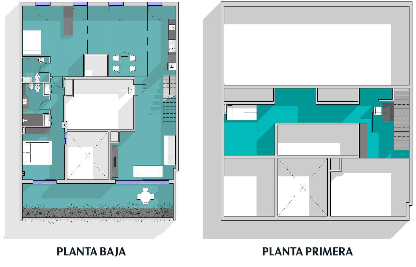 Ático con terraza y piscina en Malasaña