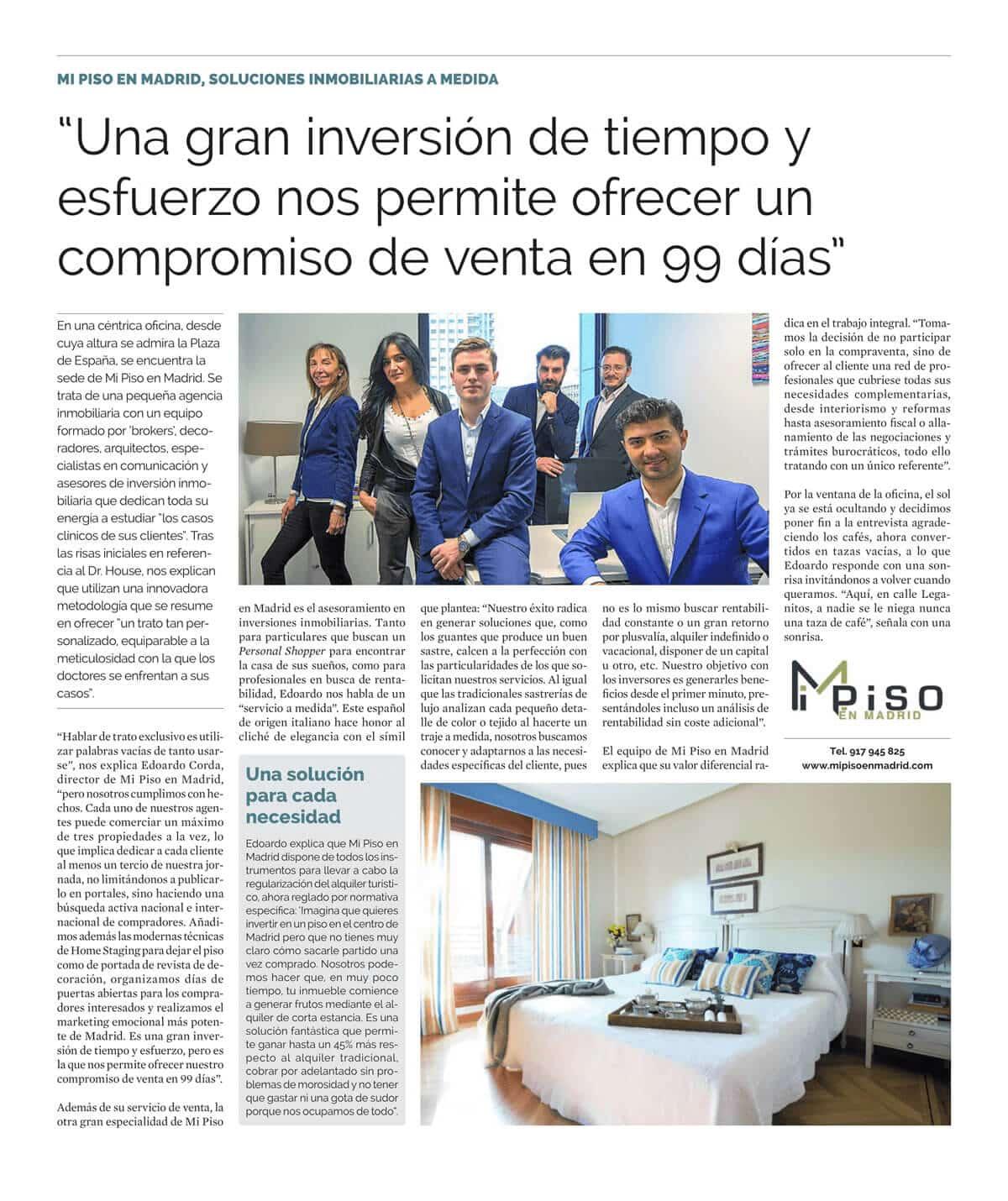 Artículo del periódico La Razón, Enero/2018.