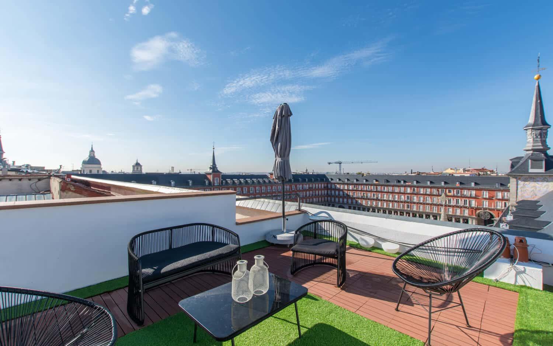 Ático con terraza en Plaza Mayor